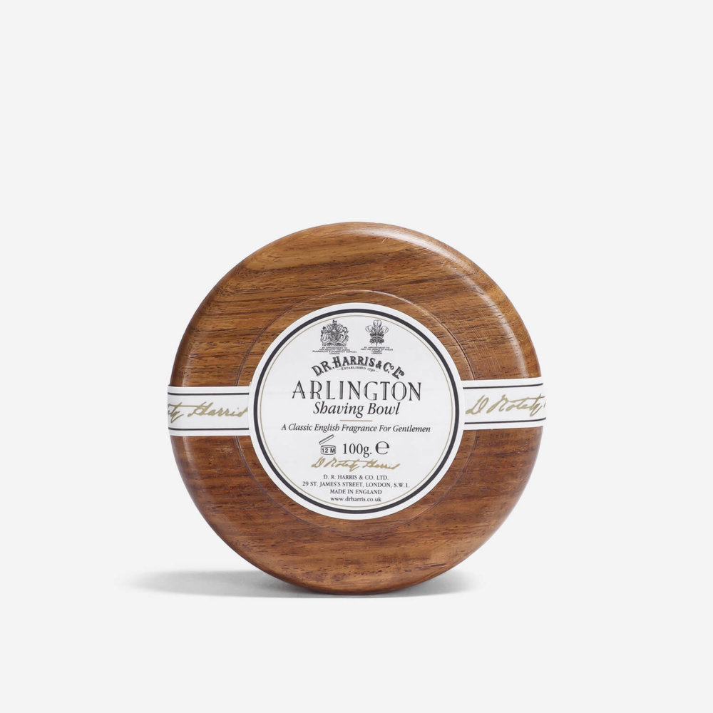 DR Harris Arlington Shaving Soap in Mahogany Bowl