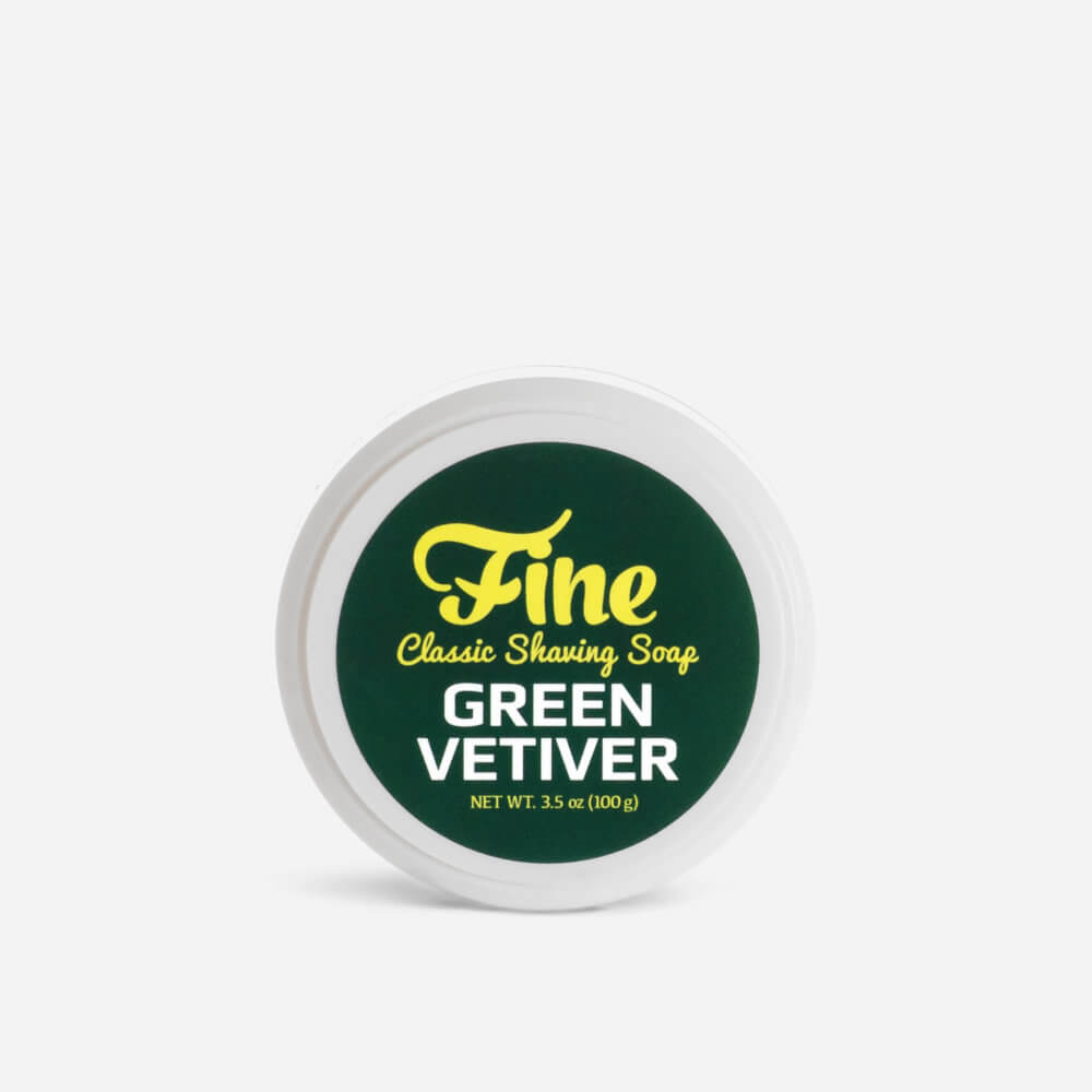 Fine Green Vetiver Shaving Soap