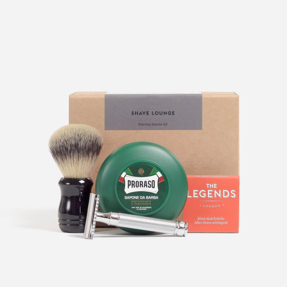 Menthol Safety Razor Shaving Starter Kit