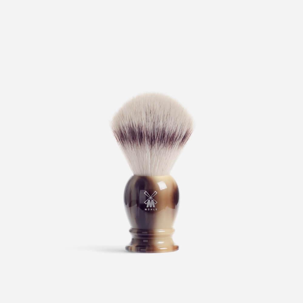 Muhle 33K252 Synthetic Fibre Shaving Brush - Faux Horn