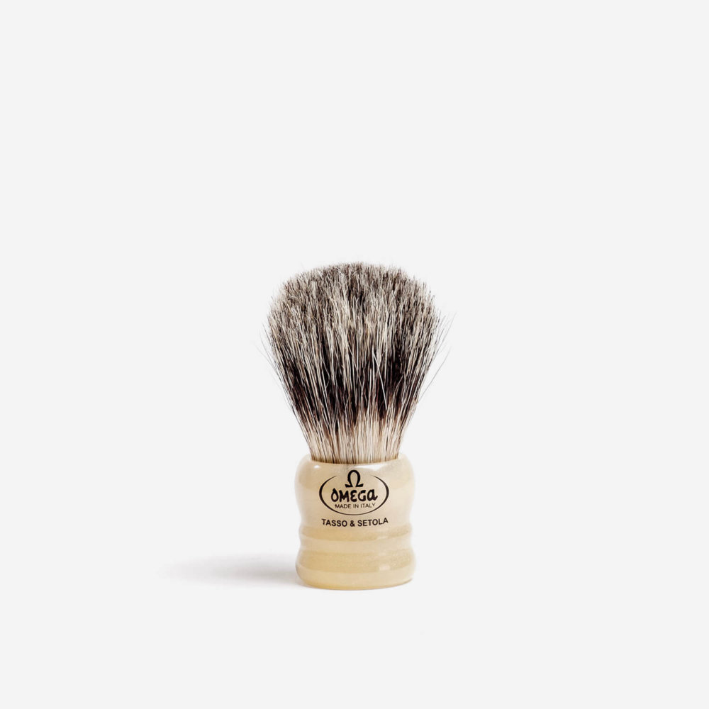 Omega 11047 Badger & Boar Hair Shaving Brush
