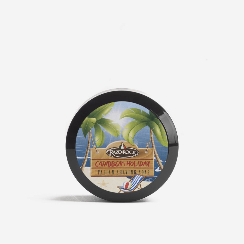 RazoRock Caribbean Holiday Shaving Cream Soap