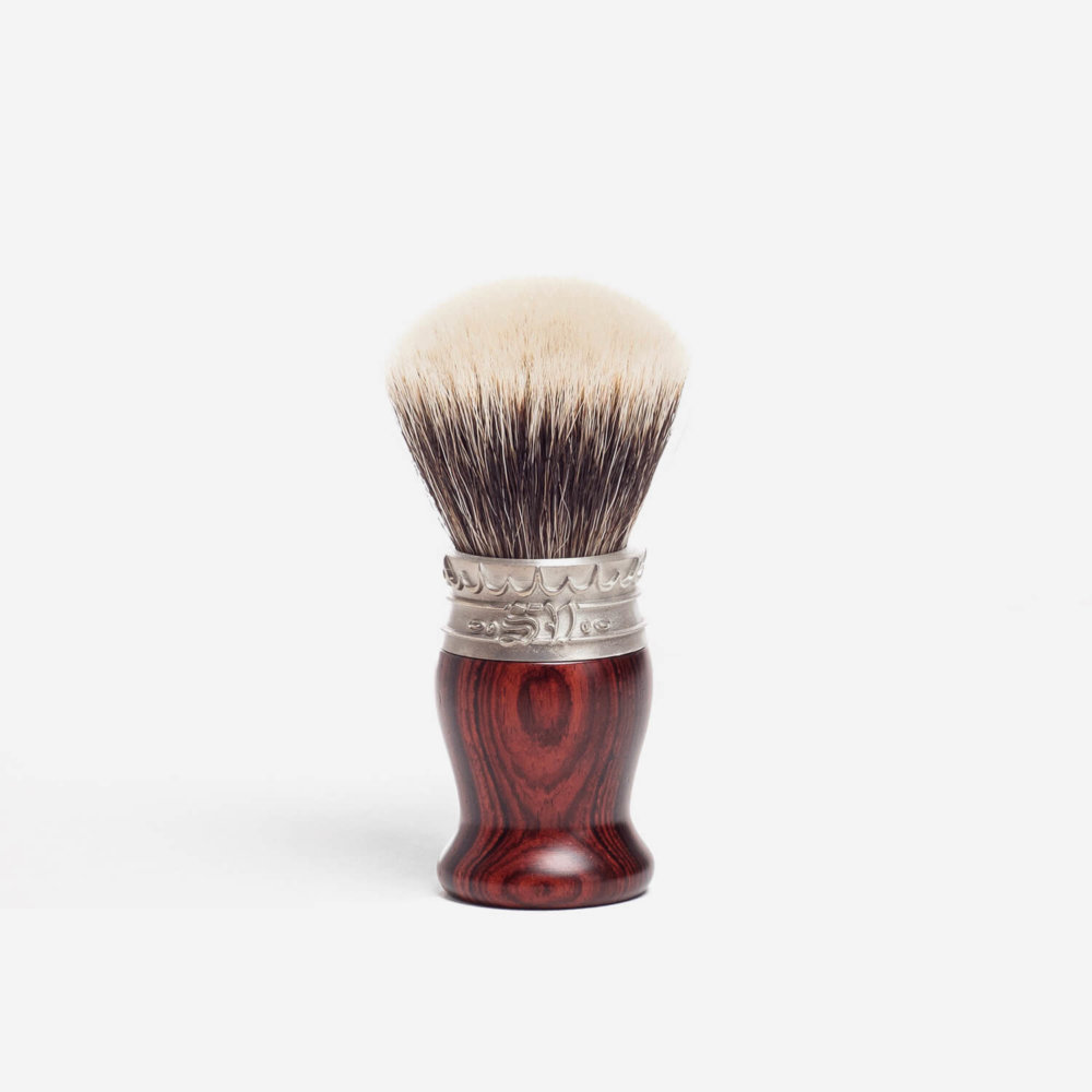 Saponificio Varesino White Badger Hair Shaving Brush with Cocobolo Handle