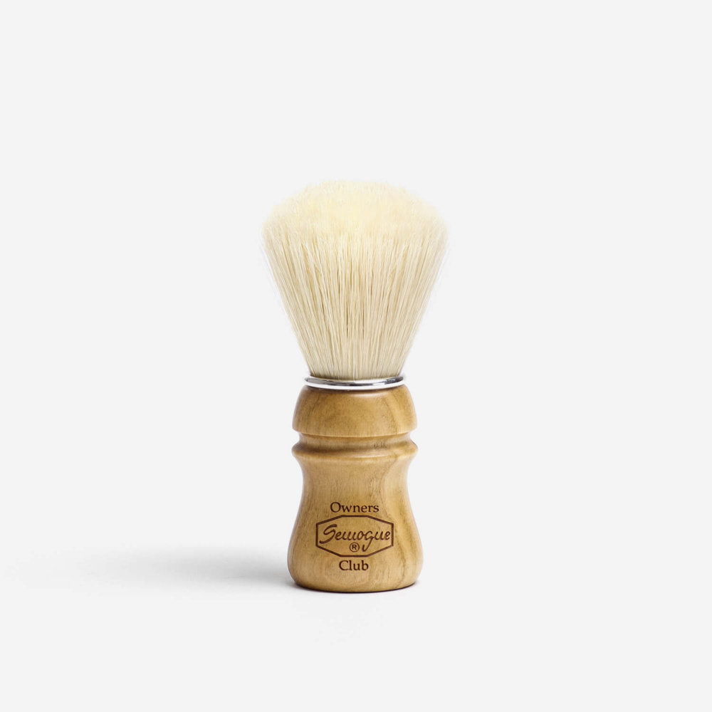 Semogue SOC Boar Hair Shaving Brush with Cherry Wood Handle