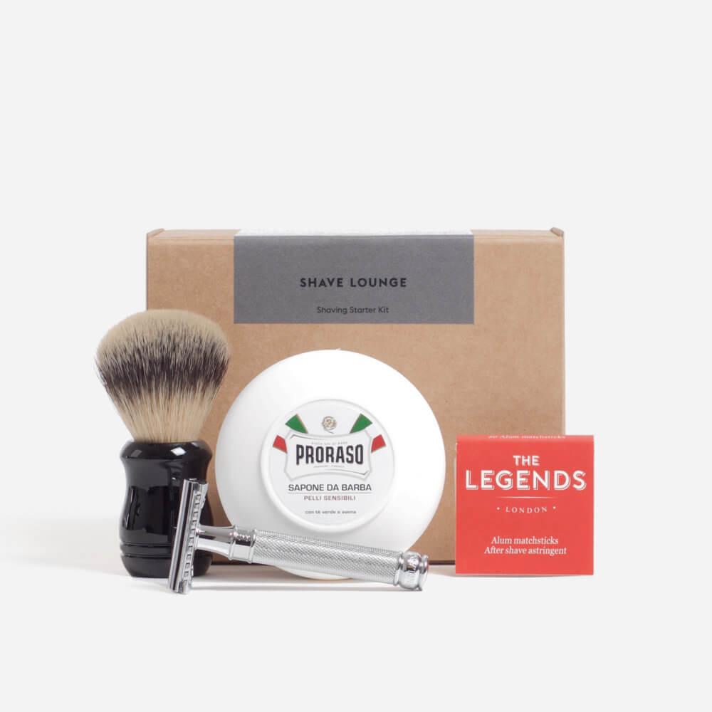 Sensitive Skin Safety Razor Shaving Starter Kit
