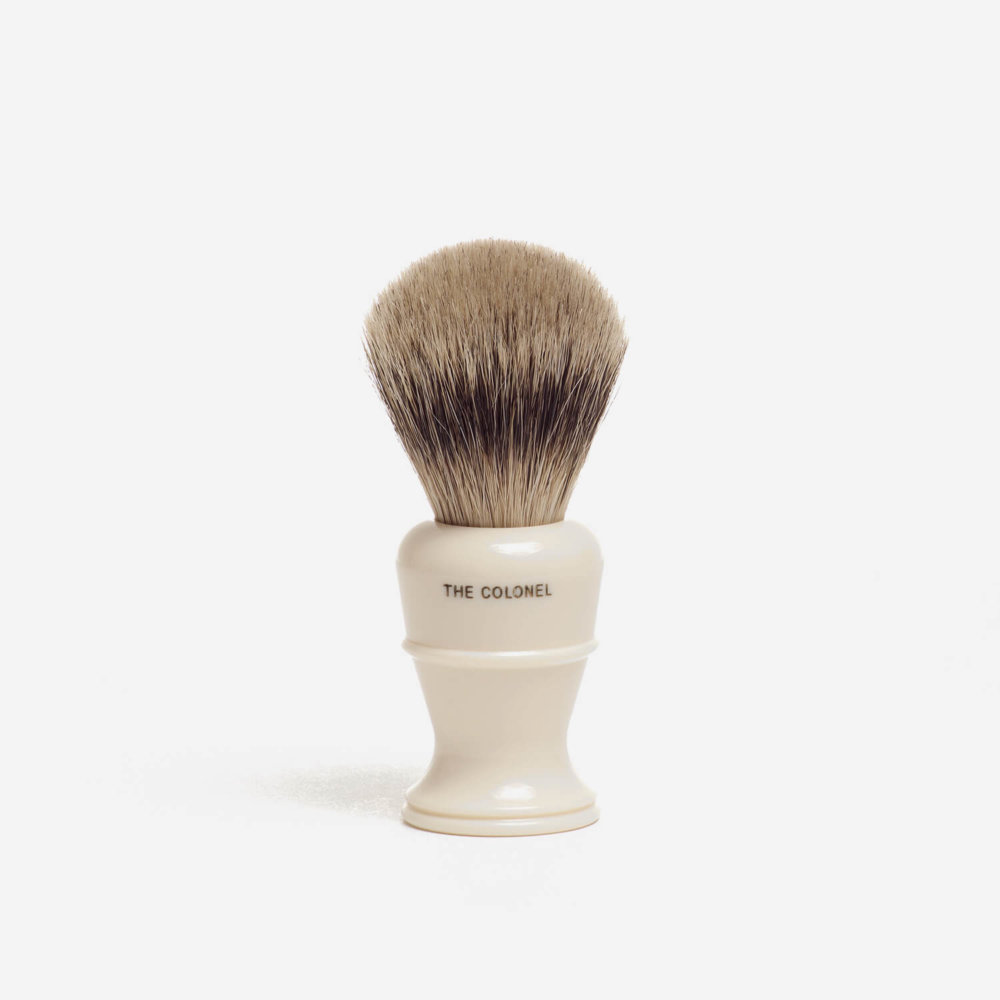 Simpsons Colonel X2L Best Badger Shaving Brush in Ivory