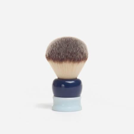 Fine Stout Synthetic Fibre Shaving Brush in Blue