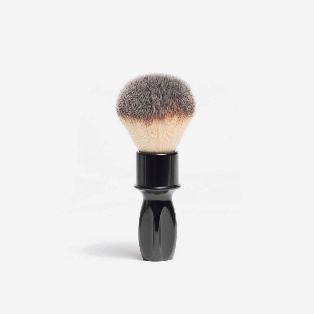 RazoRock 400 Plissoft Synthetic Fibre Shaving Brush in Gloss Black