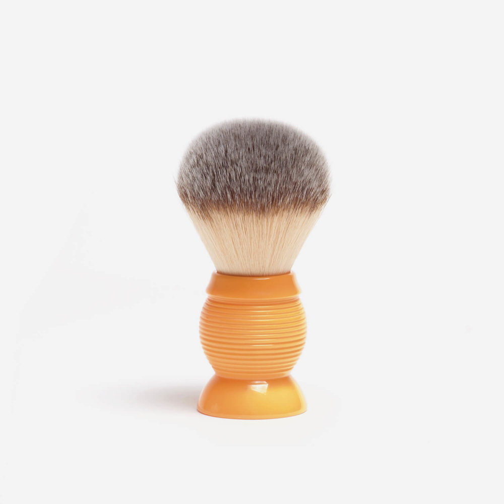 RazoRock Beehive Plissoft Synthetic Fibre Shaving Brush in Butterscotch