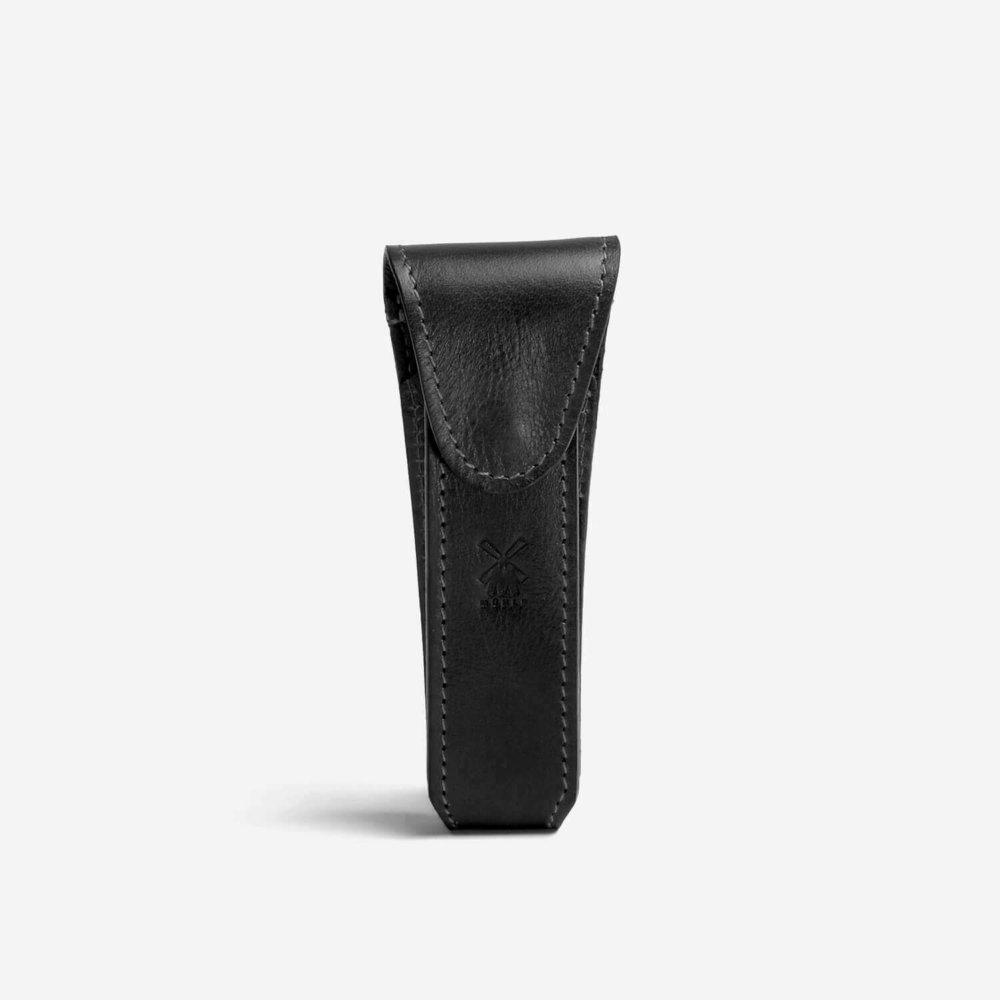 Muhle Leather Safety Razor Case in Black