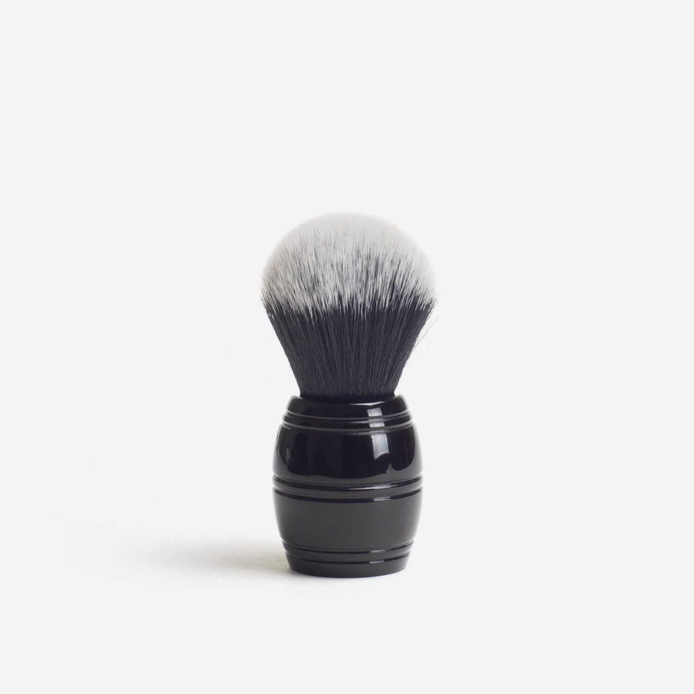 RazoRock Barrel Tuxedo Plissoft Synthetic Fibre Shaving Brush