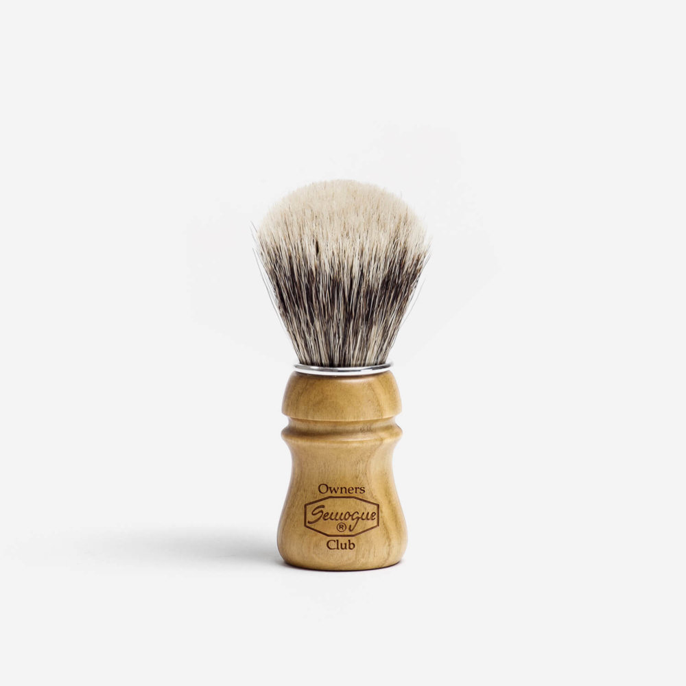 Semogue SOC Badger & Boar Hair Shaving Brush with Cherry Wood Handle