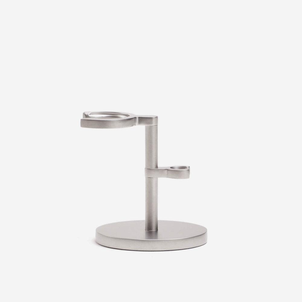 Muhle ROCCA Razor & Shaving Brush Stand in Stainless Steel