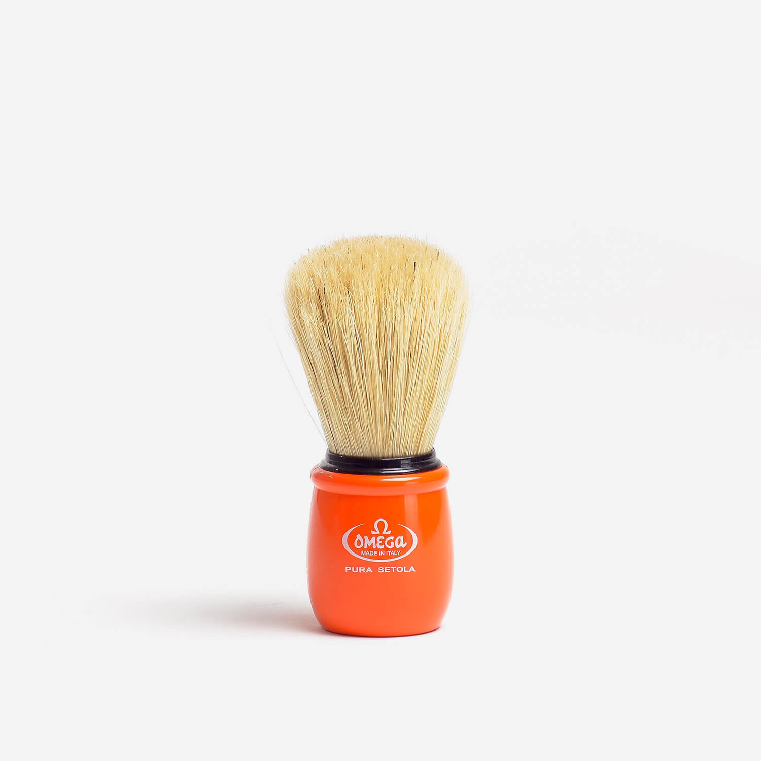Omega 10051 Boar Hair Shaving Brush With Orange Handle