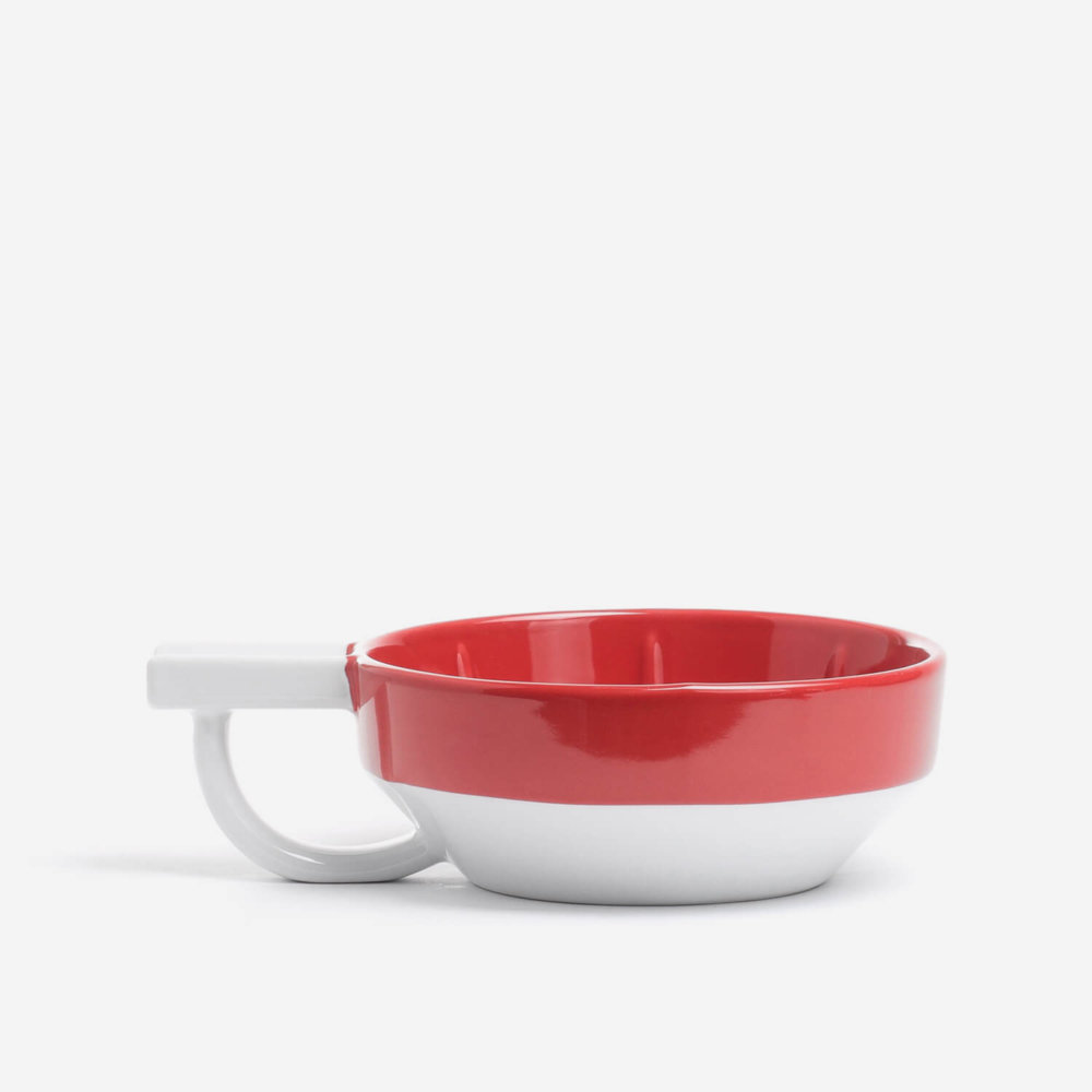 Fine Red Lather Bowl