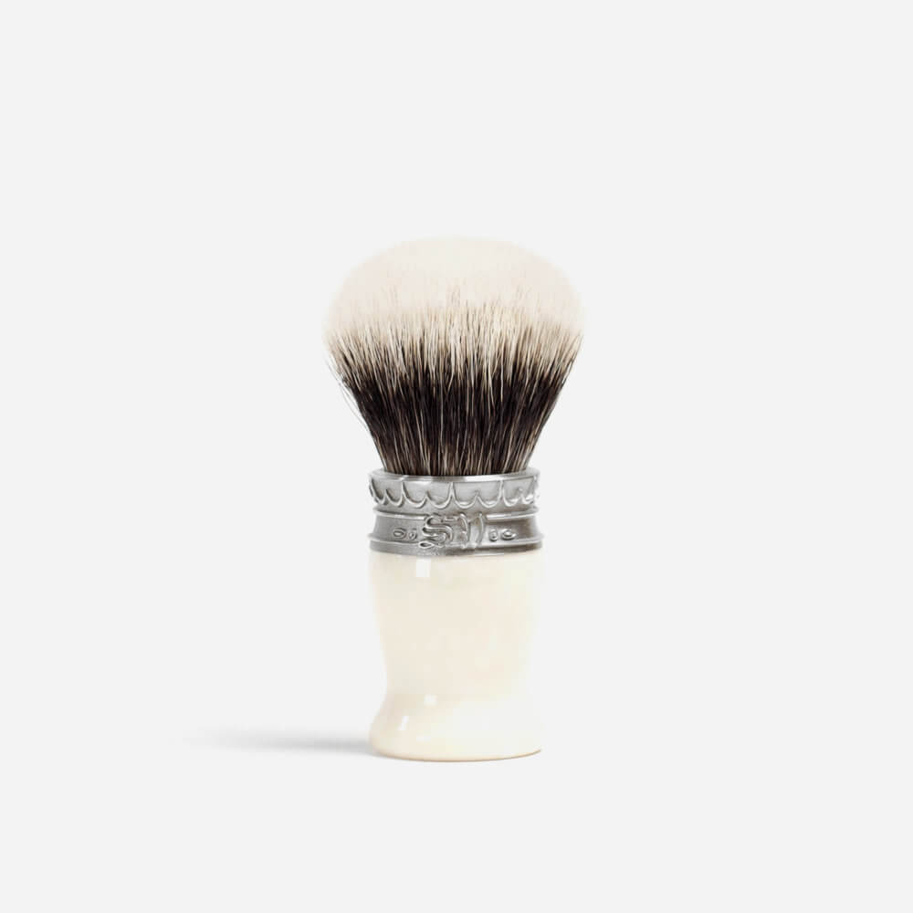 Saponificio Varesino Shaving Brush with Ivory Resin Handle