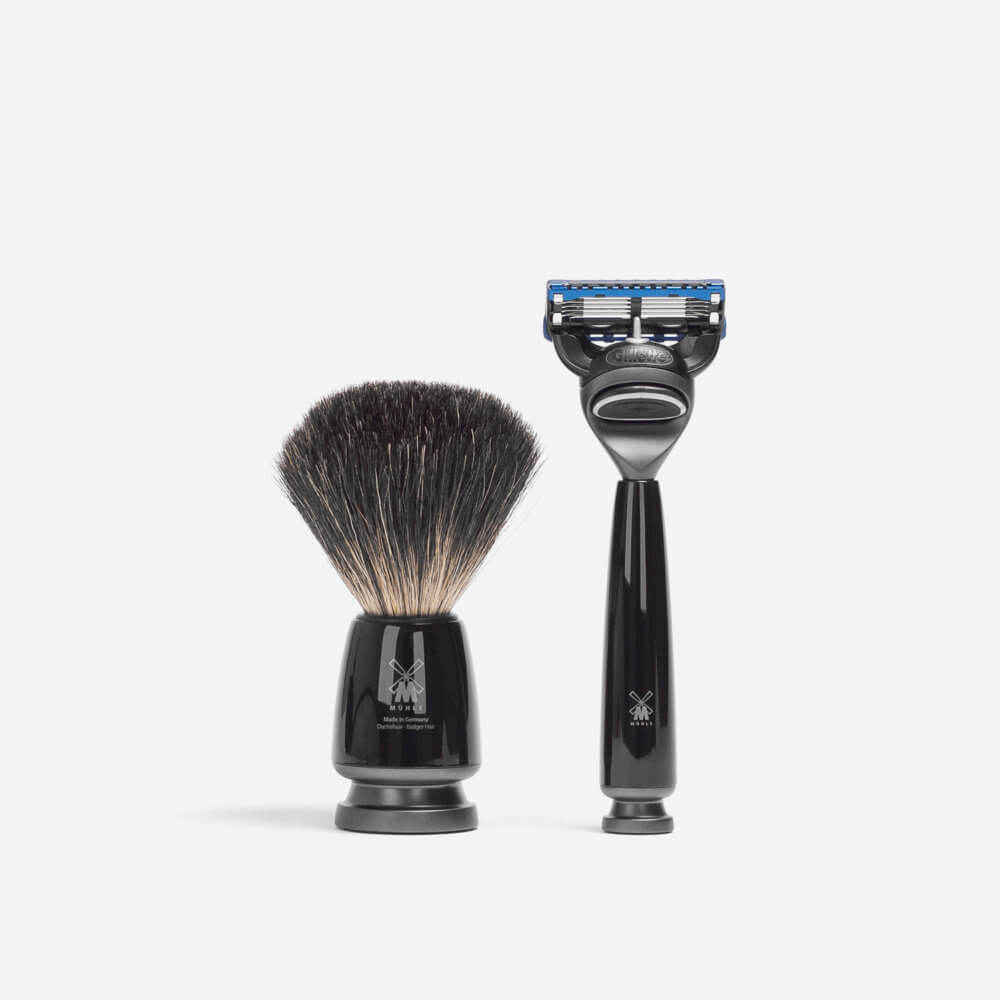 Muhle Rytmo Black Shaving Set