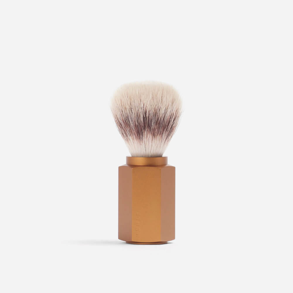 Muhle Hexagon Silvertip Fibre Shaving Brush - Bronze