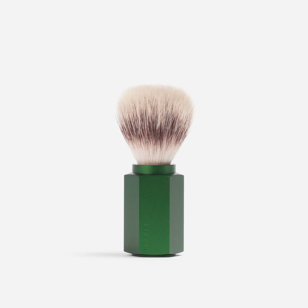 Muhle Hexagon Silvertip Fibre Shaving Brush - Forest