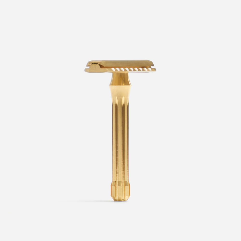 Blackland Blackbird Double Edge Razor - Brass Machined