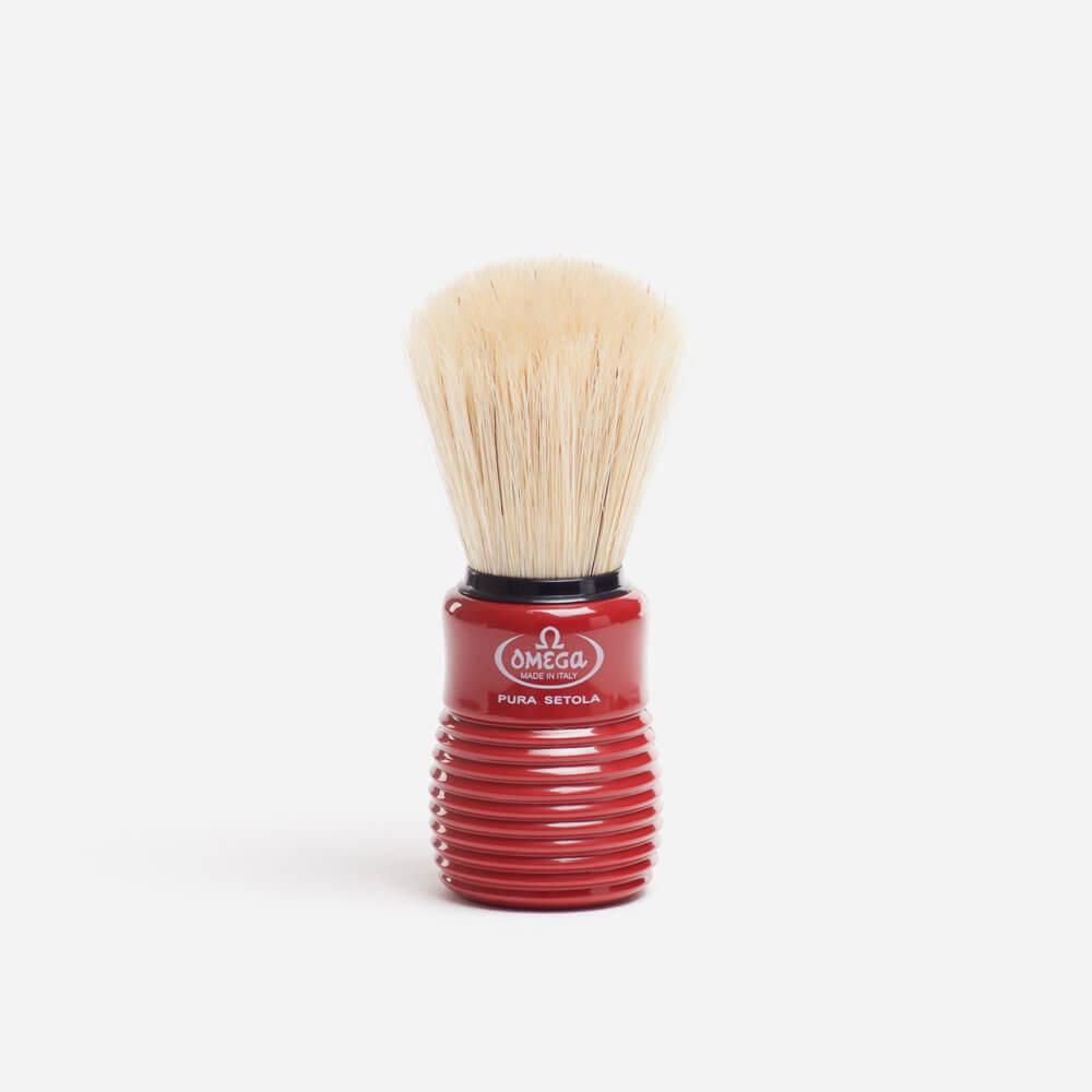 Omega 10810 Boar Shaving Brush - Red