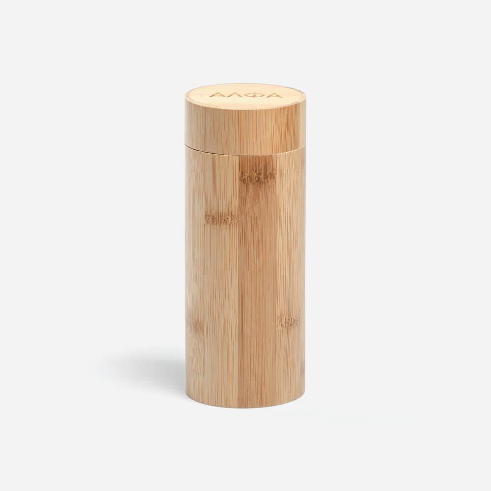 Alpha Shaving Bamboo Tube