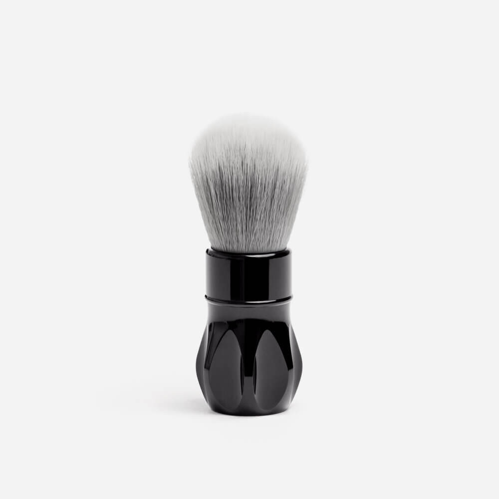 Alpha Shaving Outlaw Synthetic Shaving Brush - Polished Black