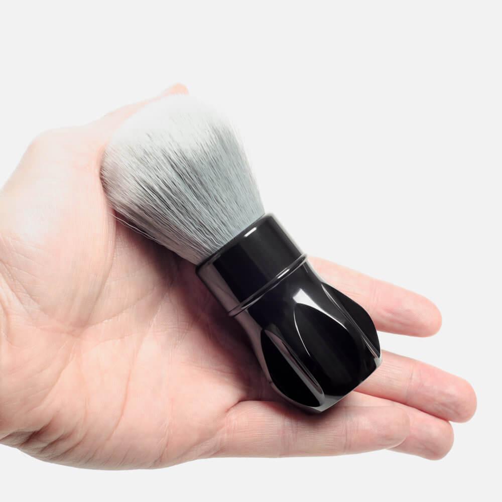 Alpha Shaving Outlaw Synthetic Fibre Shaving Brush - polished black