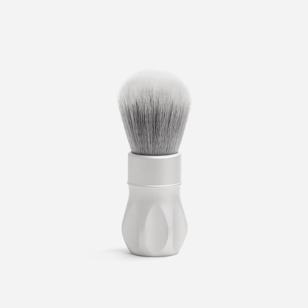 Alpha Shaving Outlaw Synthetic Shaving Brush - Matte Silver