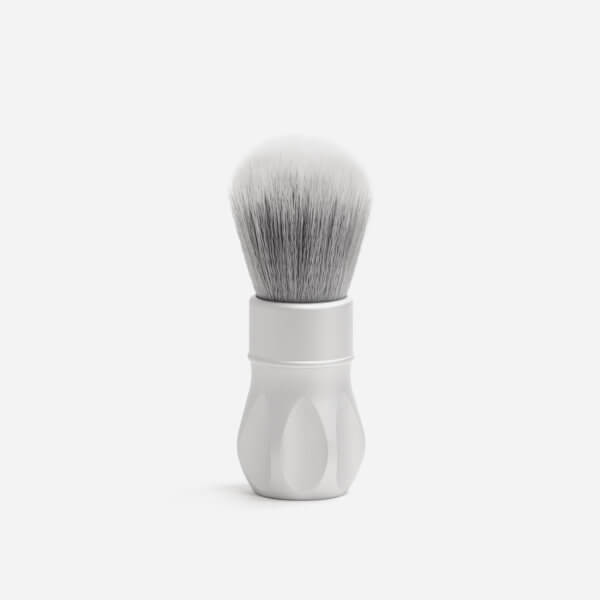 Alpha Shaving Outlaw Synthetic Shaving Brush - Matte Silver