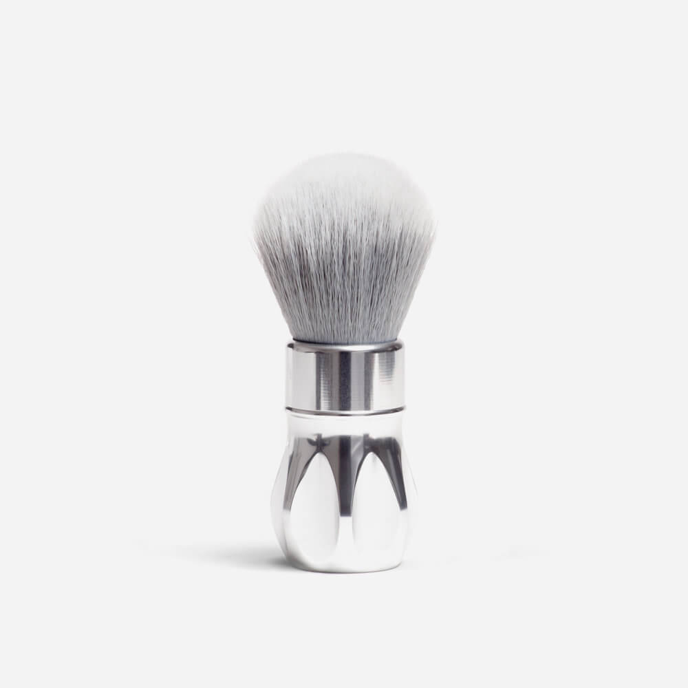 Alpha Shaving Outlaw Synthetic Shaving Brush - polished silver