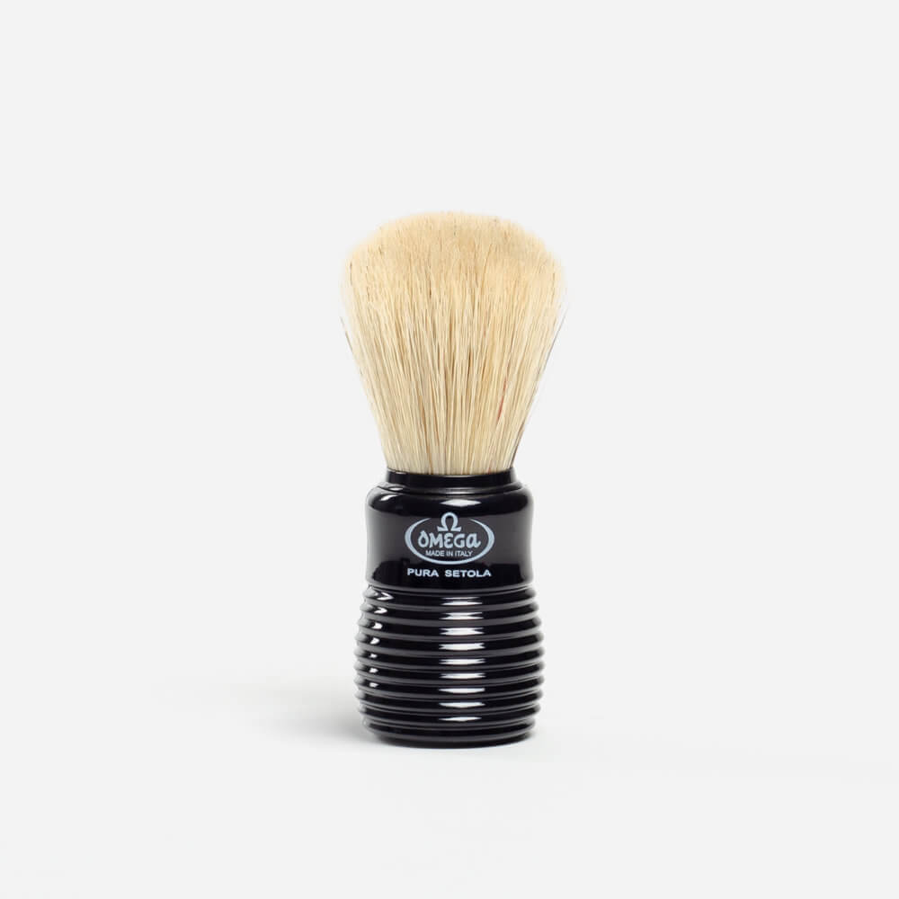 Omega 810 Boar Hair Shaving Brush - Black